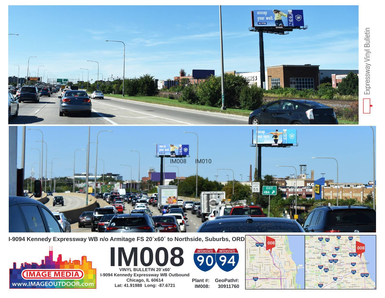 IM008 BULLETIN i9094 Kennedy Expressway Westbound Outbound FS IMAGE MEDIA OUTDOOR K